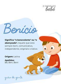Seu pequeno abençoado! De origem latina, o nome Benício é uma linda escolha para nome de menino. #nomes #benicio #gravidez #maternidade Baby E, My Little Baby, Name List, Instagram Blog, Baby Shark, Marry Me, Baby Names, Baby Room, New Baby Products