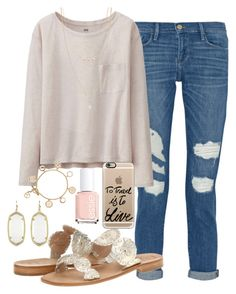 """""""to travel is to live"""" by judebellar03 ❤ liked on Polyvore featuring Frame Denim, Uniqlo, Jack Rogers, Casetify, Essie, Forever 21, Tory Burch and Kendra Scott"""