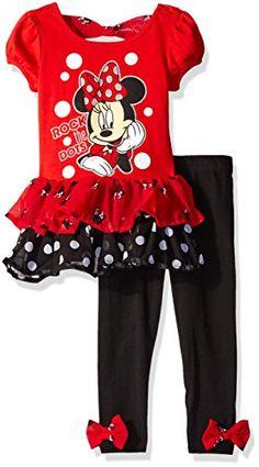 Girls Leggings Disney Full Length Red Toddler 2-Pack Size 2T 3T 4T New Tags Mous