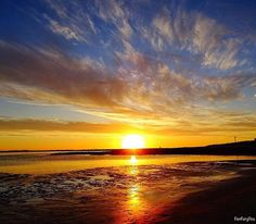 Golden sunset at Port Fairy beach in Western Victoria. Beautiful capture courtesy of @portfairypics #liveinvictoria #victoria #vic #portfairy #westvic #greatsouthcoast #greatoceanroad #sunset #golden #sun #sunlight #beach #sea #ocean #surf #waves #clouds #reflection #beautiful #scenic #nature #love #australia #liveinaustralia by liveinvictoria http://ift.tt/1UokfWI