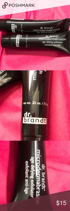 """2 dr. brandt Microdermabrasion Exfoliator Not 1 but 2 travel size new never used tubes of Allure's """"Best of"""" Award winner age defying exfoliant!  It brightens and smooths your skin without drying! dr. brandt Makeup"""
