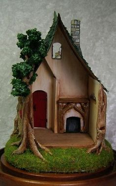 Make It Your Own Cottage kit scale, Acorn Wood Clay Fairy House, Gnome House, Fairy Garden Houses, Fairy Gardens, Cottage Kits, Storybook Cottage, Clay Houses, Miniature Houses, Doll Houses