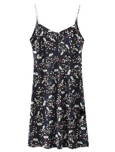 SHARE & Get it FREE | Mini Low Back Floral Slip Dress - CadetblueFor Fashion Lovers only:80,000+ Items • New Arrivals Daily Join Zaful: Get YOUR $50 NOW!