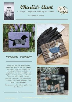 Sewing pattern to make the Pooch Purse PDF by charliesaunt