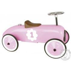 La voiture de course des filles - Voiture porteur métal rose - Vilac