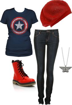 """""""Captian America All the Way =)"""" by hounsom on Polyvore"""