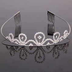 Charming Rhinestone Crown Headband