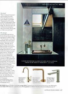 Black Clay, Clay Tiles, Minimalism, Interior Design, Bathroom, Mirror, Metal, Home Decor, Nest Design