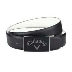 Other Mens Golf Clothing 181141: Callaway Golf Mens Performance Chev Reversible Belt - One Size - Caviar/White BUY IT NOW ONLY: $47.95