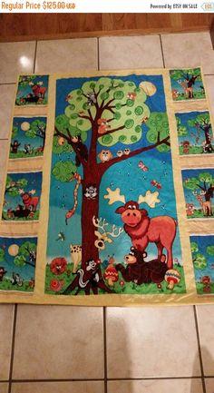 Woodland Nursery Gender Neutral Nursery Forest Friends Moose Squirrel Crib Toddler Cot Playmat Bear Owl  Deer Bird  I Spy Toddler Birthday