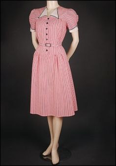 Candy Striped Dress at Vecona