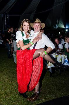 Festival goers   Dirndl Dresses and Lederhose  Traditional Bavarian costume