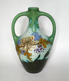 Vase decor Johnny executed by Plateelbakkerij Schoonhoven circa Glass Ceramic, Vases Decor, Pots, Pottery, Antiques, Ceramica, Antiquities, Antique, Vase Decorations