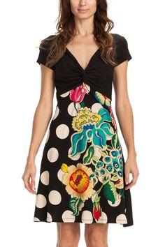 Floral polka dot dress | Desigual Lima Dos