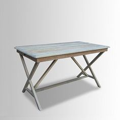 Whitewashed Cross Base Desk #WestElm