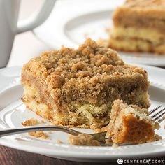 "Crumb Coffee Cake {CenterCutCook}...""This ultra crumbly Crumb Coffee Cake recipe is buttery with cinnamon and loaded with crumbles! It's everything that a crumb coffee cake should be!"""