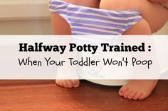 Halfway Potty Trained :: When Your Toddler Won't Poop | Wichita Moms Blog