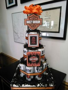 Harley Davidson Party Ideas For Young And Old #HarleyDavidson #party  #birthday #decorations
