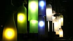 """It's wine o'clock (somewhere) — time to share a wine-related repurposing find: """" """"A series of lights created from the spent vessels from gatherings of friends and festivities, found bottles from the turn of the century, discarded empties in a barren..."""