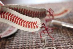 Baseball Bracelet - Life in Left Field Gifts For Baseball Players, Baseball Gifts, Baseball Bracelet, Yard Games, Unusual Jewelry, Gift Ideas, Patterns, Future, Bracelets