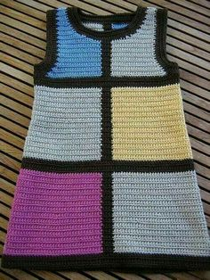 Fabulous Crochet a Little Black Crochet Dress Ideas. Georgeous Crochet a Little Black Crochet Dress Ideas. Crochet Dress Girl, Crochet Bodycon Dresses, Black Crochet Dress, Crochet Skirts, Crochet Baby Clothes, Knit Crochet, Crochet Collar, Little Girl Fashion, Little Girl Dresses