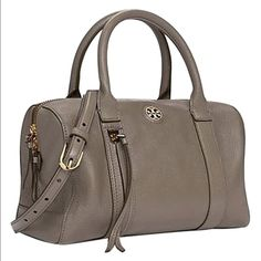 Tory Burch Brody satchel in Porcini Excellent condition used once. Comes  with dust bag and 45a3f337b2e5e