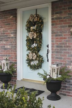 Christmas 2015, Diy Christmas Ornaments, Christmas Wreaths, Christmas Decorations, Little House Living, Glitter Spray Paint, Faux Snow, O Holy Night, Diy Workshop