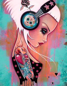 Arte Black, Zombie Art, Bulletins, Hippie Art, Digital Art Girl, Arte Pop, Dope Art, Gothic Art, Skull Art