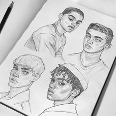 Fashion Illustration Face Sketches Portraits New Ideas Pencil Art Drawings, Art Drawings Sketches, Illustration Sketches, Hipster Drawings, Art Illustrations, Easy Drawings, Guy Drawing, Drawing People, Drawing Faces