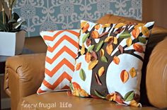 Mini Family Room Makeover using Fabric & Color |