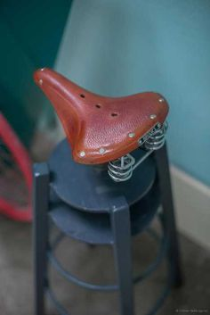 bar stool recycling bike seat