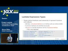 Project Lambda: Functional Programming Constructs in Java - YouTube http://www.youtube.com/watch?v=N9EjHemC_ls