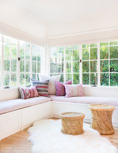 Light and airy window seat // Amber interiors Decor, House Design, Room, Interior, Family Room, Home, Home Decor Colors, Interior Design, Window Seat