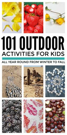 Outdoor activities for kids from toddlers to tweens to enjoy all year round from winter to fall and not just summer. Use this huge bucket list of simple, no prep, fun outdoor activities to encourage kids to play outside and explore nature with loads of crafts, games, water play and nature projects you can do everywhere from the backyard to the beach. #outdooractivitiesforkids #outsideactivitiesforkids #outdoorfunforkids List Of Outdoor Activities, Outside Activities For Kids, Outdoor Fun For Kids, Summer Activities For Kids, Autumn Activities, Sensory Table, Collage Making, Nature Table, Water Play