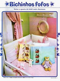 Punto de Cruz para bebes - Revistas de manualidades Gratis Cross Stitch Books, Toy Chest, Storage Chest, Embroidery, Toys, Furniture, Animal, Home Decor, Cute Pets