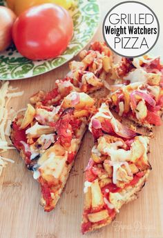 Easy to make Weight Watchers Grilled BBQ Pizza