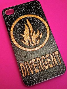 Handmade Glitter Divergent iPhone case,  $23.99, etsy.com
