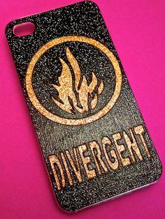 Handmade Glitter Divergent iPhone case, $23.99, etsy.com