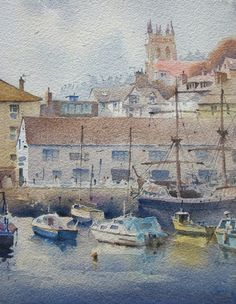 35 Best images about Peter Cronin Watercolor Artists, Painting, Watercolors, Boats, Art Ideas, Buildings, Watercolor Painting, Watercolor Paintings, Painting Art