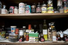time capsule: The House That Time Forgot. The larder reflecs the palate of a different age: tinned new potatoes, tinned sardines, and jars and jars of Bovril