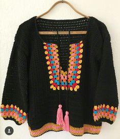 Fabulous Crochet a Little Black Crochet Dress Ideas. Georgeous Crochet a Little Black Crochet Dress Ideas. Crochet Bodycon Dresses, Black Crochet Dress, Crochet Cardigan, Crochet Granny, Crochet Baby, Knit Crochet, Crochet Stitches, Crochet Tops, Easy Crochet Projects