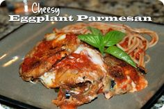 Cheesy Eggplant Parmesan {and some housekeeping}