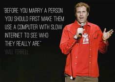 Will Ferrell marriage advice