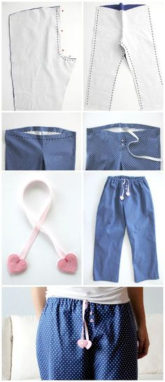 how to easily sew your own pajama pants