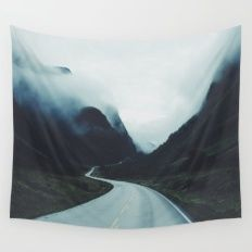 Dark road Wall Tapestry