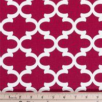 Quatrefoil Fabric Fulton Timberwolf  made by Premier Prints Inc