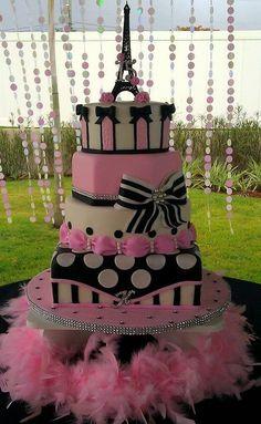 Paris-inspired Cake