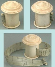 Antique-Carved-Bone-Tape-Measure-w-Silk-Tape-English-Circa-1820