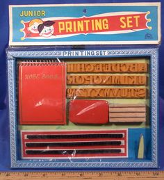 Vintage dime store novelty / toy Printing Set.