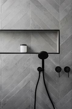 Affordable Stone Tiles Designs For Bathroom Shower Affordable Stone Tile Designs for the Bathroom Shower 23 Tuile Chevron, Chevron Tile, Grey Chevron, Chevron Bathroom, Chevron Floor, Bathroom Tile Designs, Bathroom Interior Design, Bathroom Ideas, Bathroom Pictures